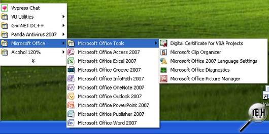 установка Outlook 2007.