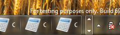 Иконки приложений Microsoft визуально отделены от дополнительных приложений